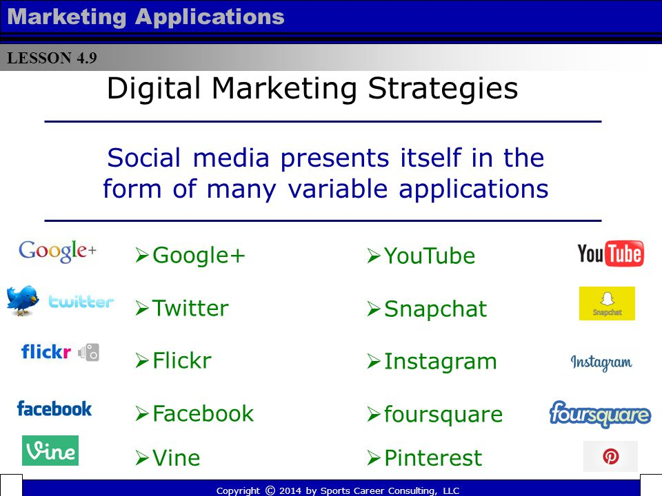 Social media presents itself in the form of many variable applications