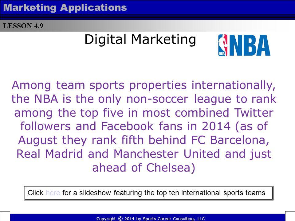 LESSON 4.9 Marketing Applications. Digital Marketing.