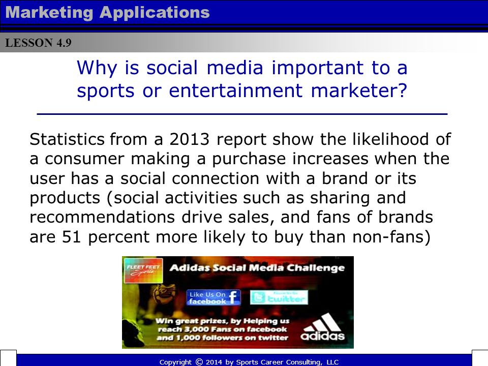 Why is social media important to a sports or entertainment marketer