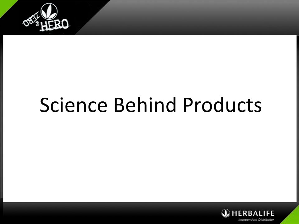 Science Behind Products