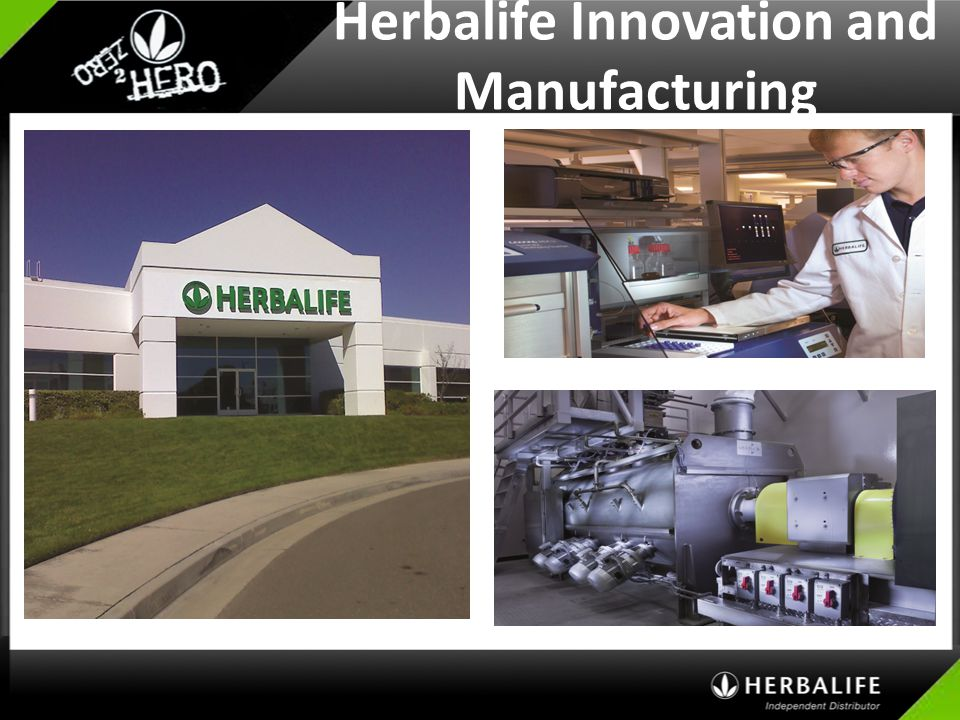 Herbalife Innovation and Manufacturing