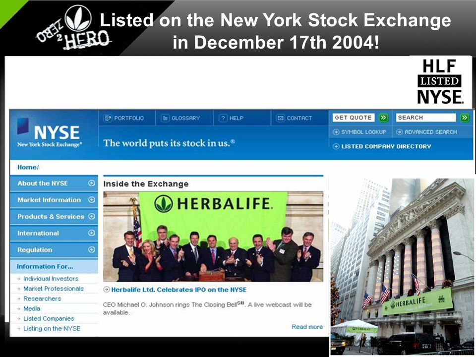 Listed on the New York Stock Exchange in December 17th 2004!