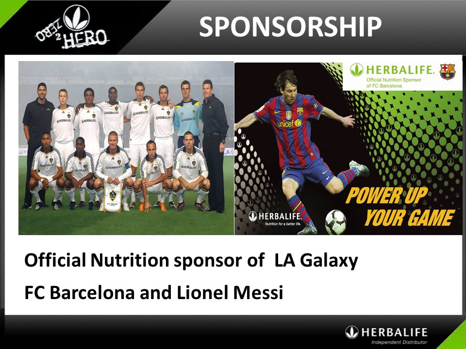 SPONSORSHIP Official Nutrition sponsor of LA Galaxy