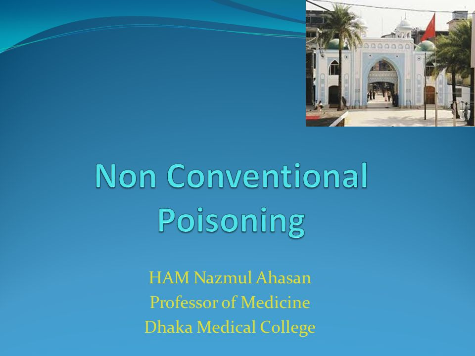 Non Conventional Poisoning