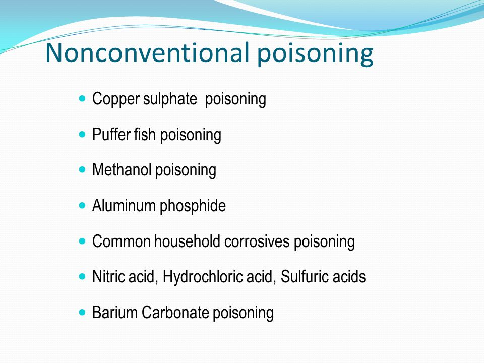 Nonconventional poisoning