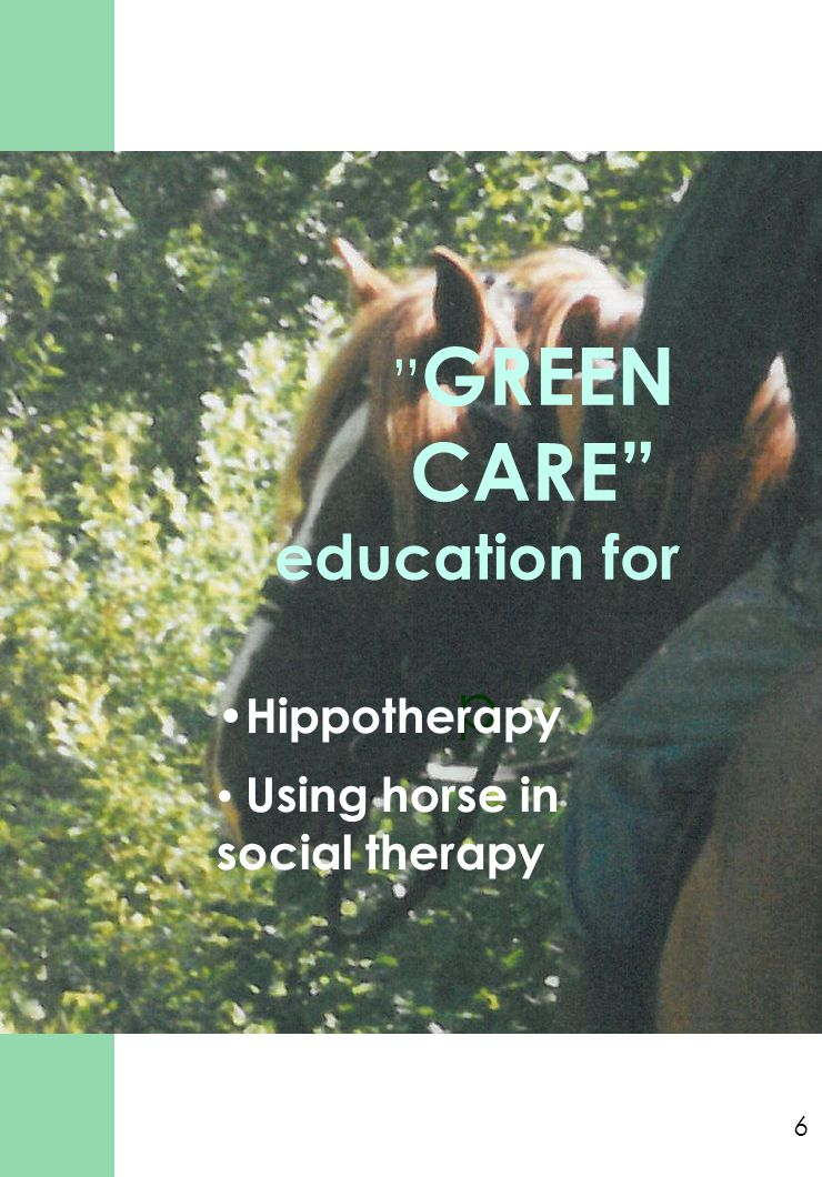 GREEN CARE education for p