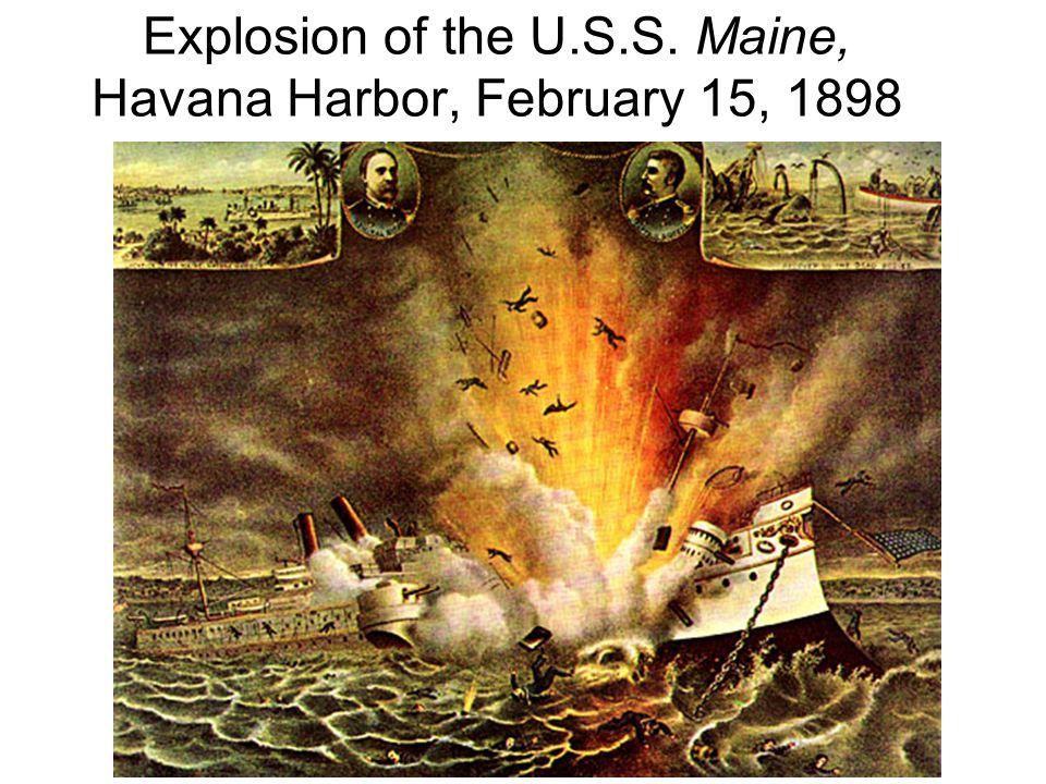 Explosion of the U.S.S. Maine, Havana Harbor, February 15, 1898