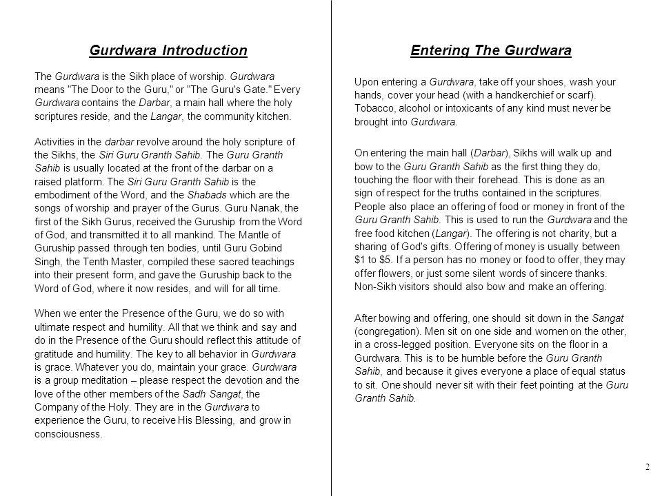 Gurdwara Introduction