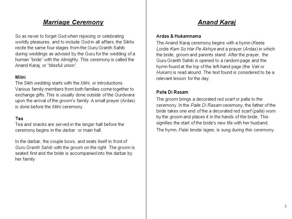 Marriage Ceremony Anand Karaj
