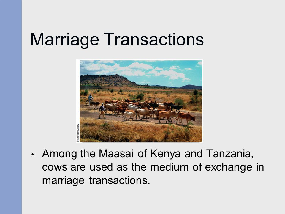 Marriage Transactions