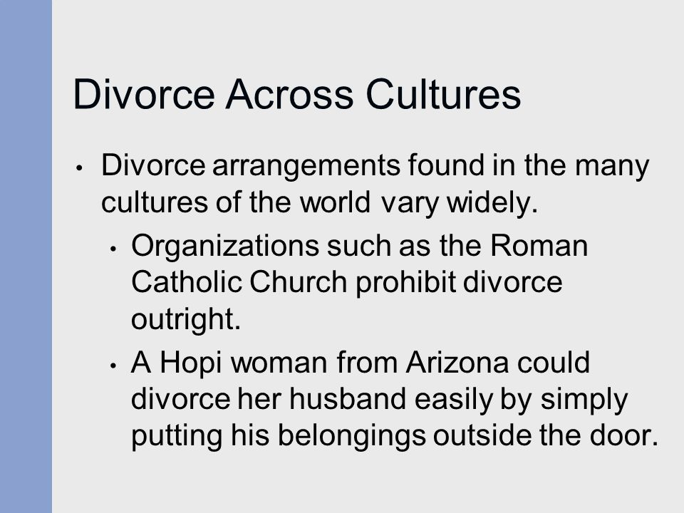 Divorce Across Cultures