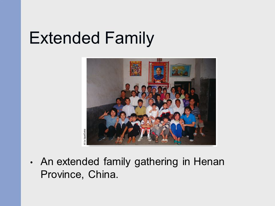 Extended Family An extended family gathering in Henan Province, China.