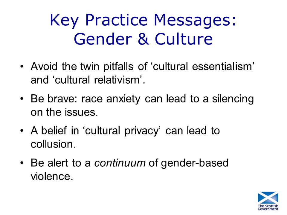 Key Practice Messages: Gender & Culture