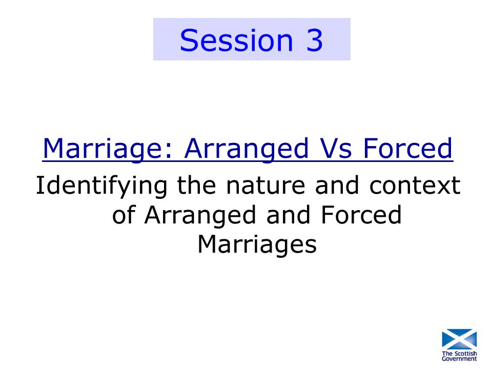 Session 3 Marriage: Arranged Vs Forced