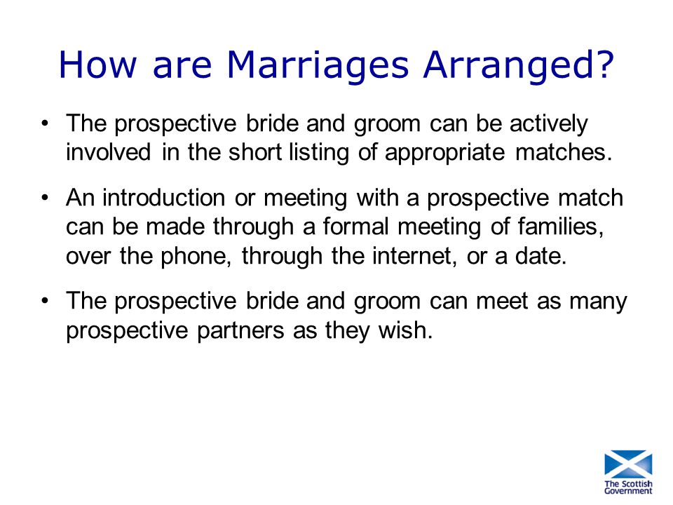 How are Marriages Arranged