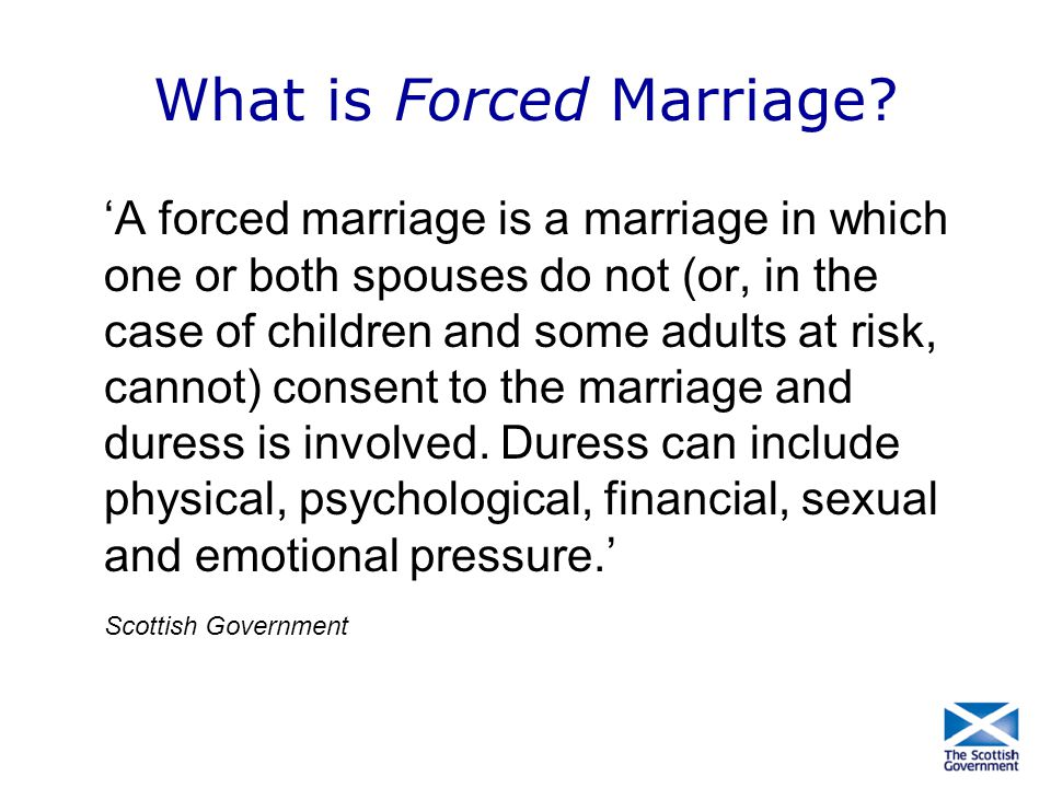 What is Forced Marriage