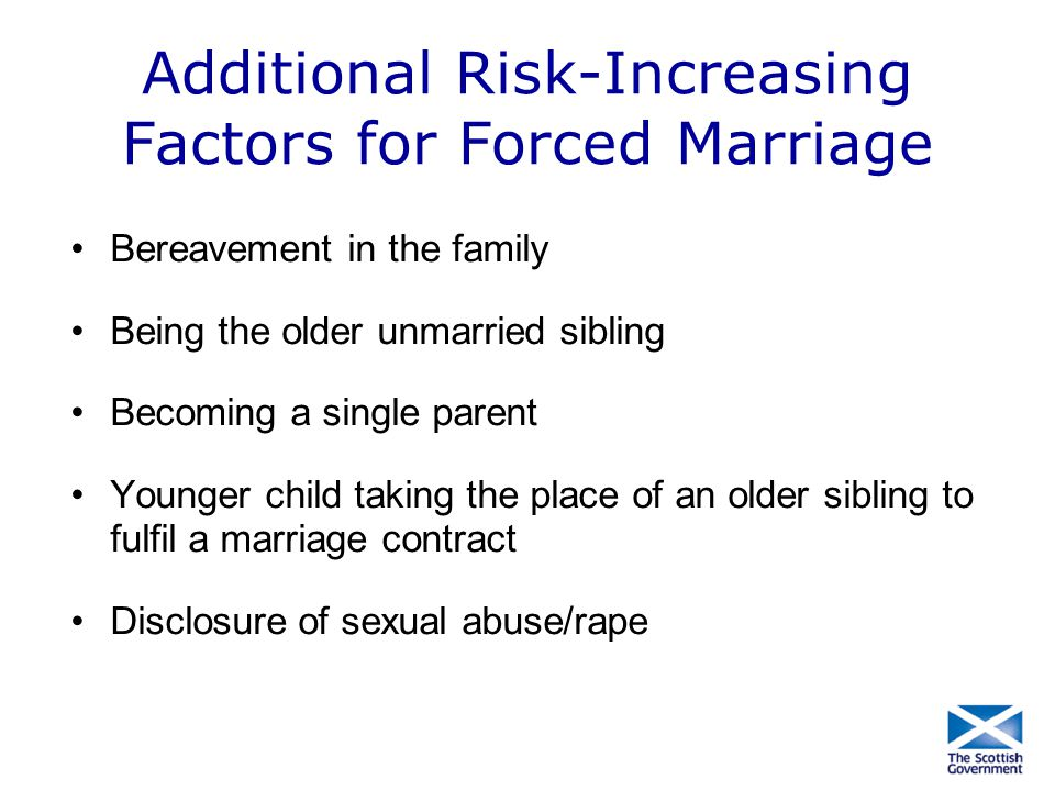 Additional Risk-Increasing Factors for Forced Marriage