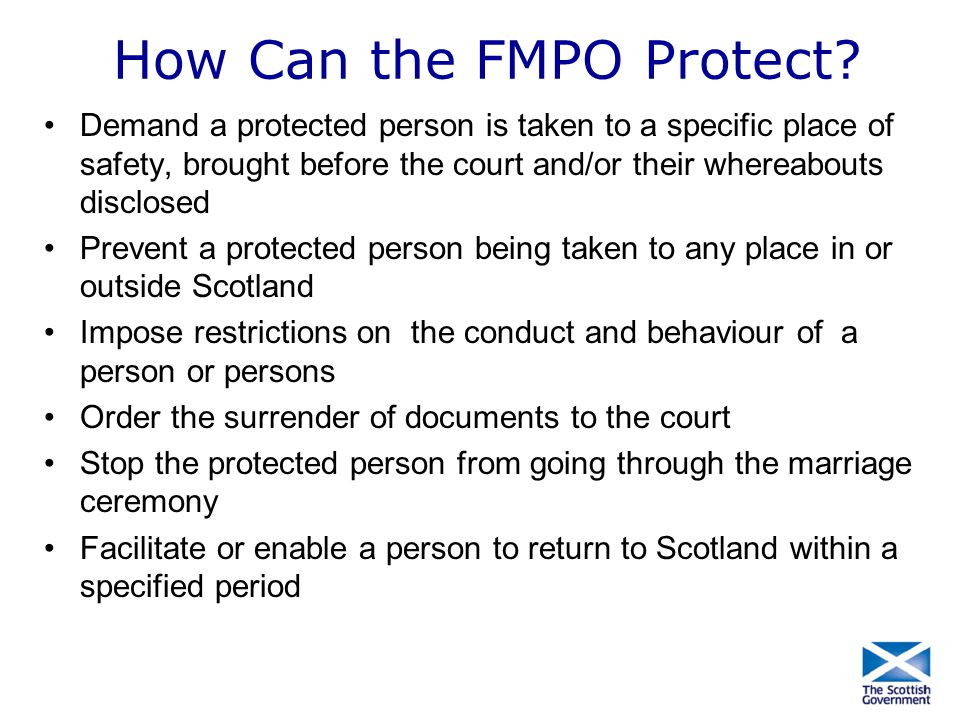 How Can the FMPO Protect