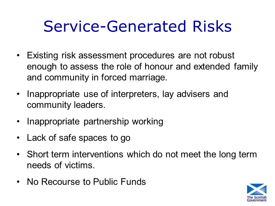 Service-Generated Risks
