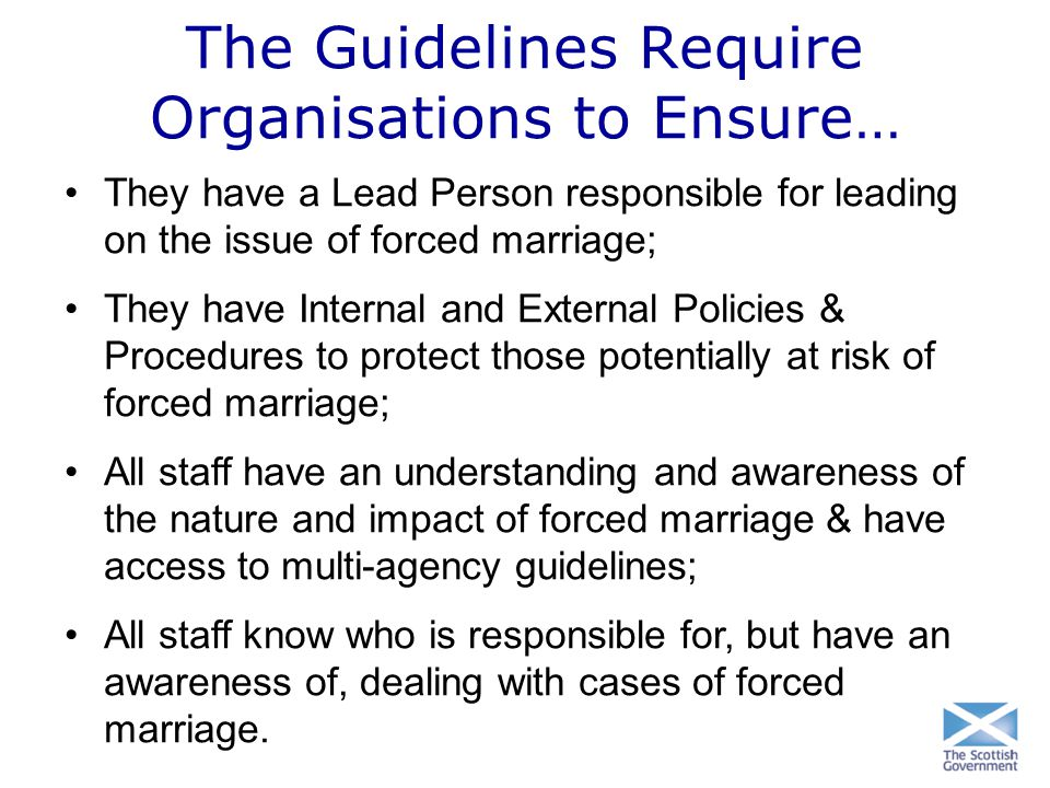 The Guidelines Require Organisations to Ensure…