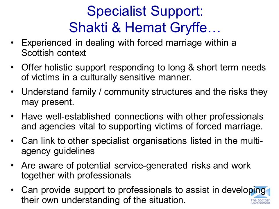Specialist Support: Shakti & Hemat Gryffe…