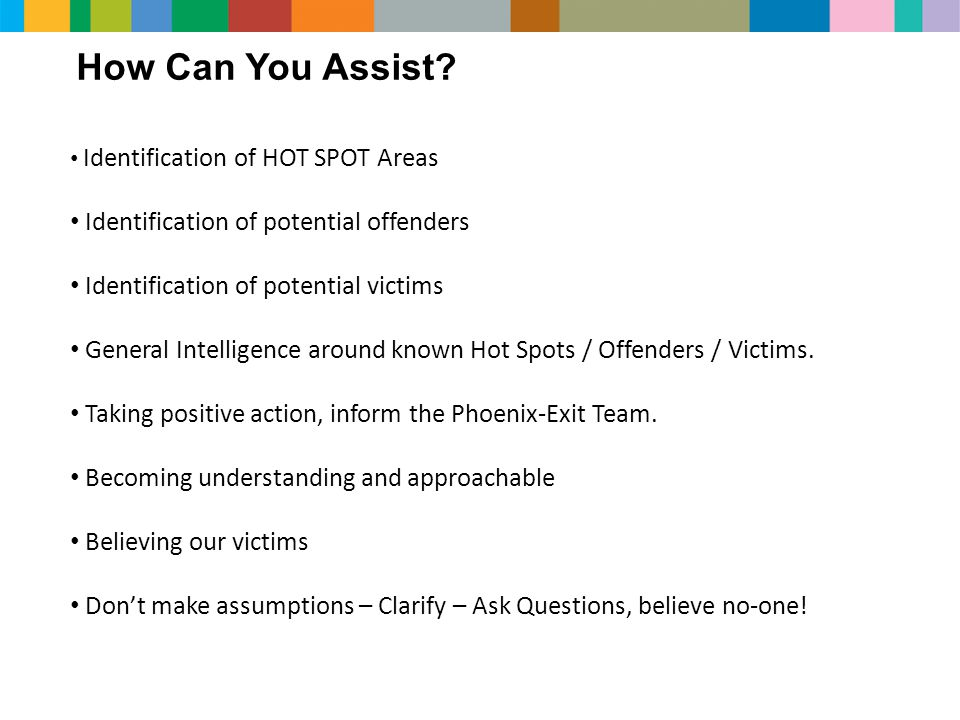 How Can You Assist Identification of potential offenders