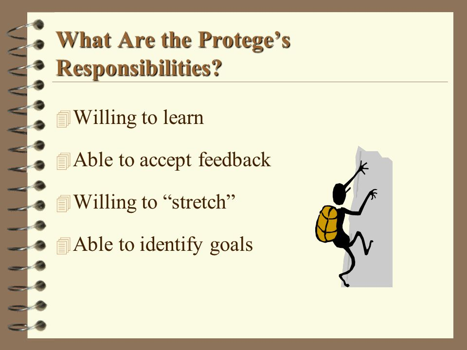 What Are the Protege's Responsibilities