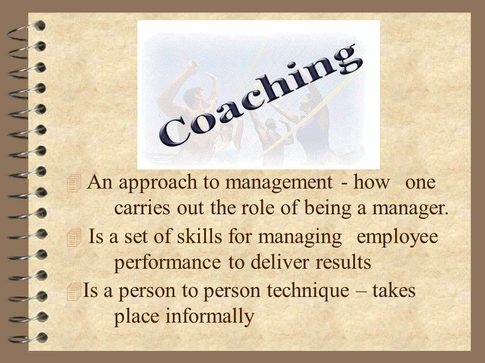 An approach to management - how. one