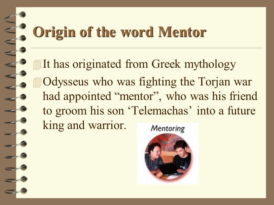 Origin of the word Mentor