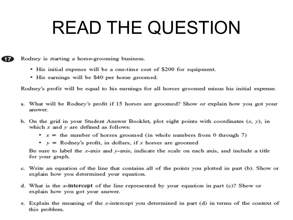 READ THE QUESTION