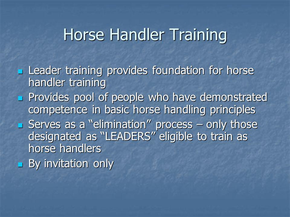 Horse Handler Training