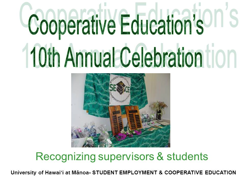 Recognizing supervisors & students
