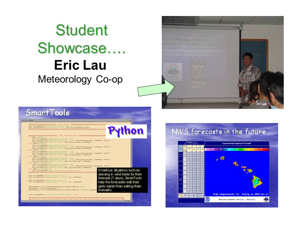 Student Showcase…. Eric Lau Meteorology Co-op