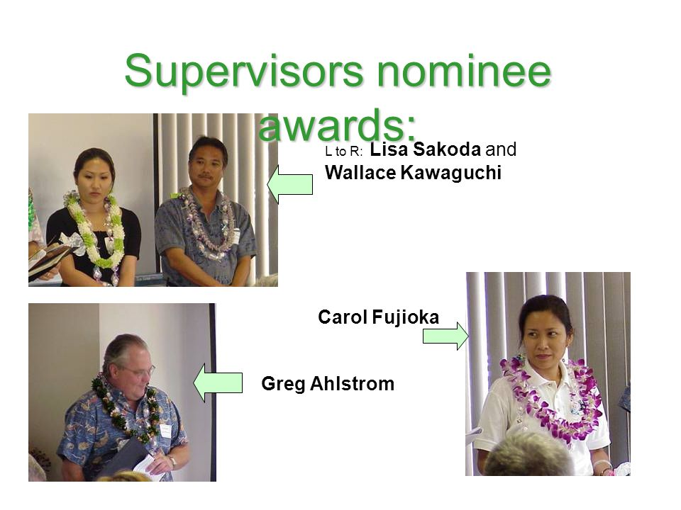 Supervisors nominee awards: