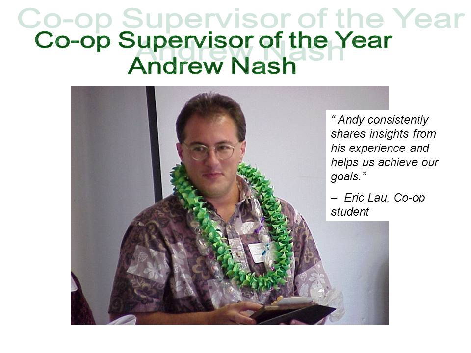 Co-op Supervisor of the Year