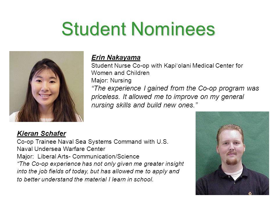 Student Nominees Erin Nakayama