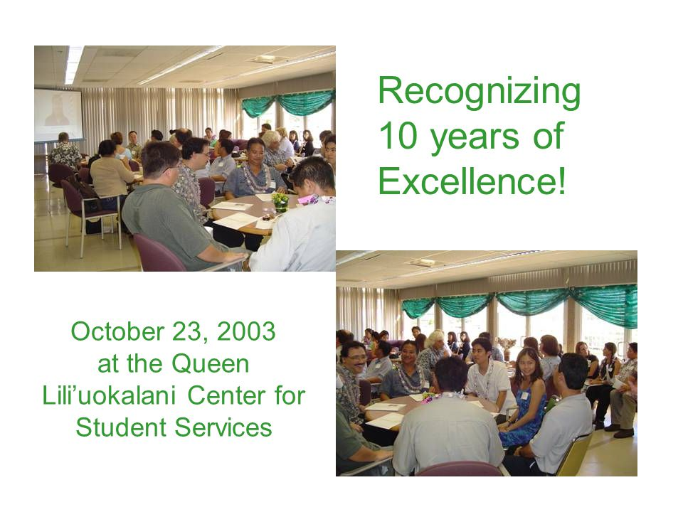 Recognizing 10 years of Excellence!