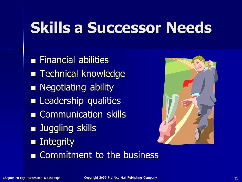 Skills a Successor Needs