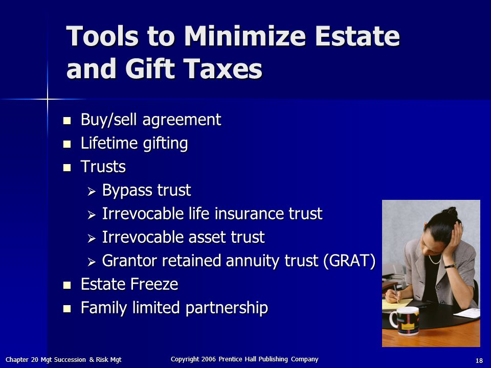 Tools to Minimize Estate and Gift Taxes