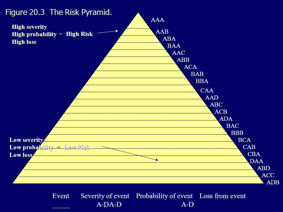 Figure 20.3 The Risk Pyramid.