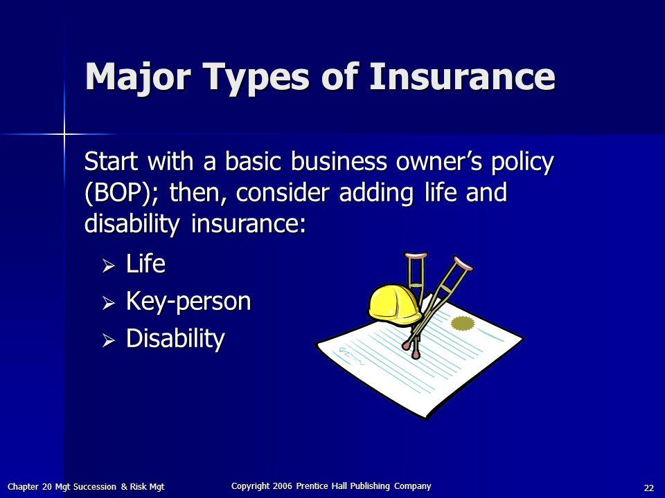 Major Types of Insurance