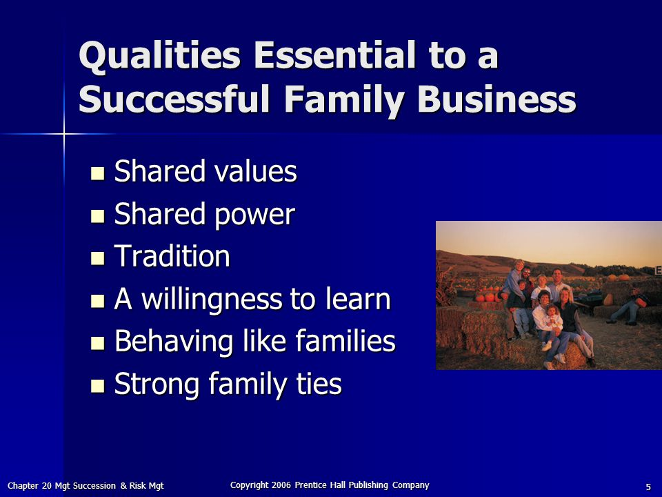 Qualities Essential to a Successful Family Business