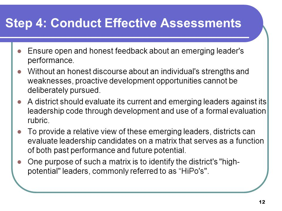 Step 4: Conduct Effective Assessments