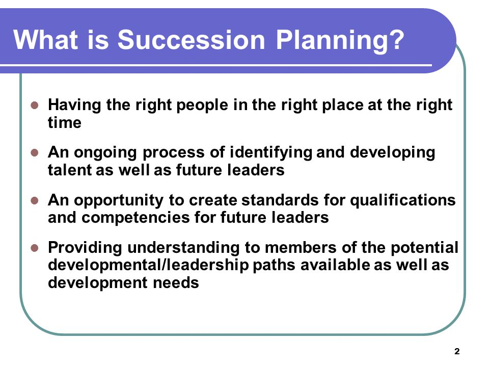 What is Succession Planning