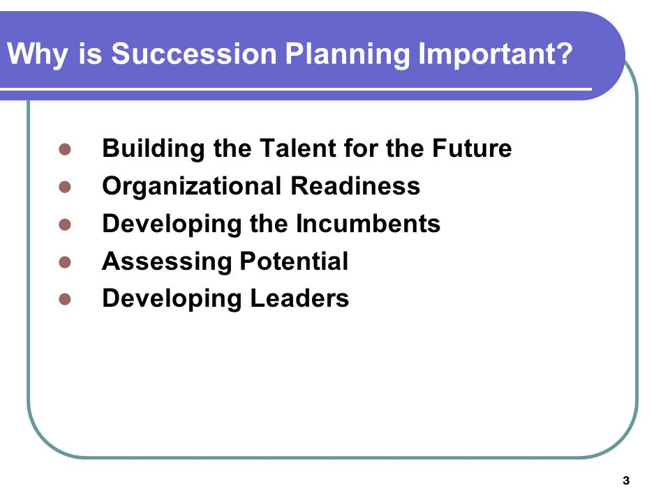 Why is Succession Planning Important