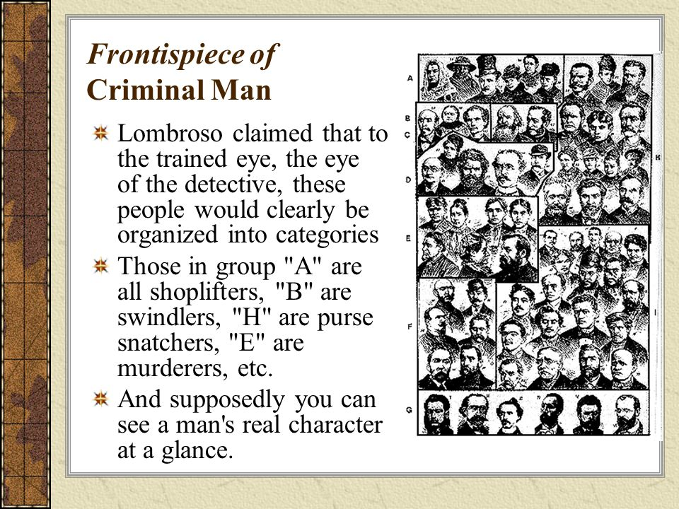 Frontispiece of Criminal Man