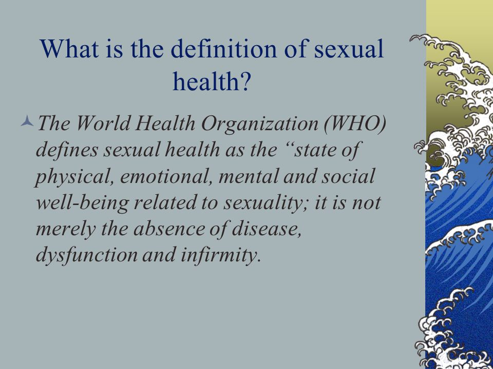 What is the definition of sexual health