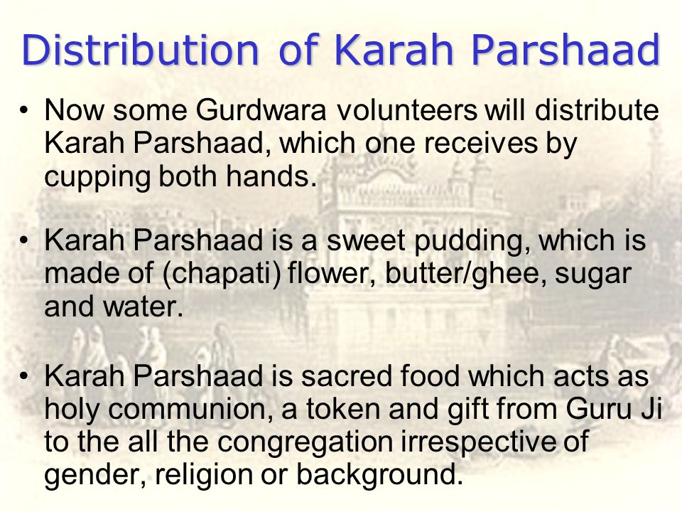 Distribution of Karah Parshaad