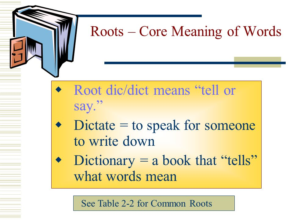 Roots – Core Meaning of Words