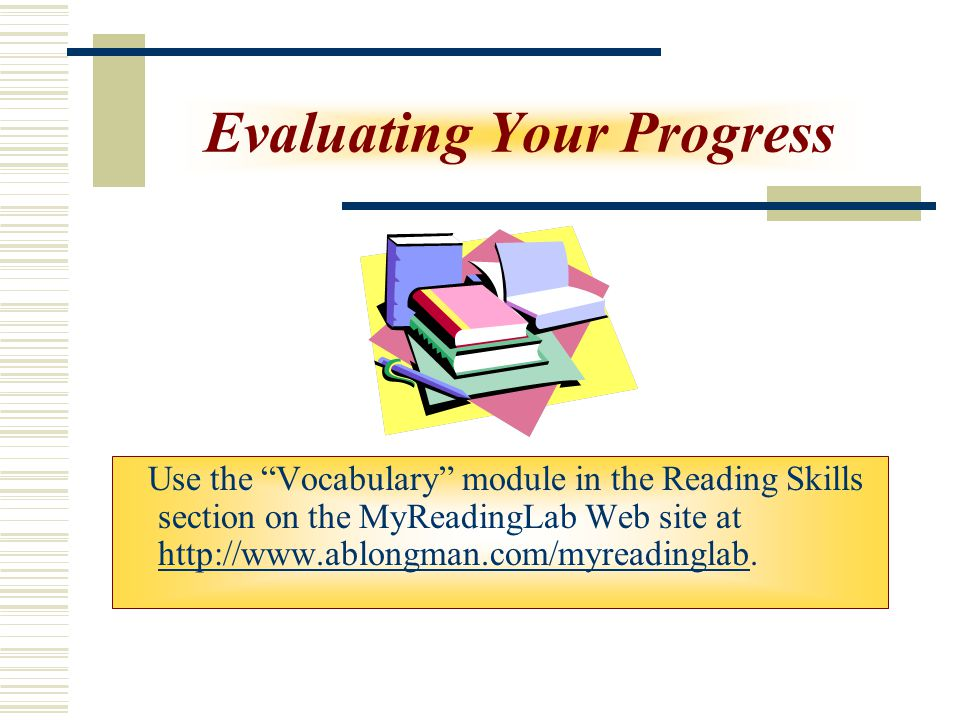 Evaluating Your Progress